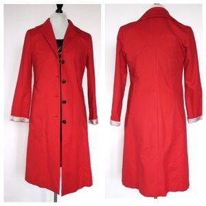 COLE HAAN// red spring trench lightweight jacket